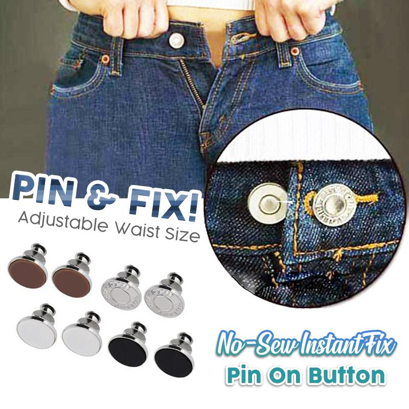 No-Sew Instant Fix Pin On Button