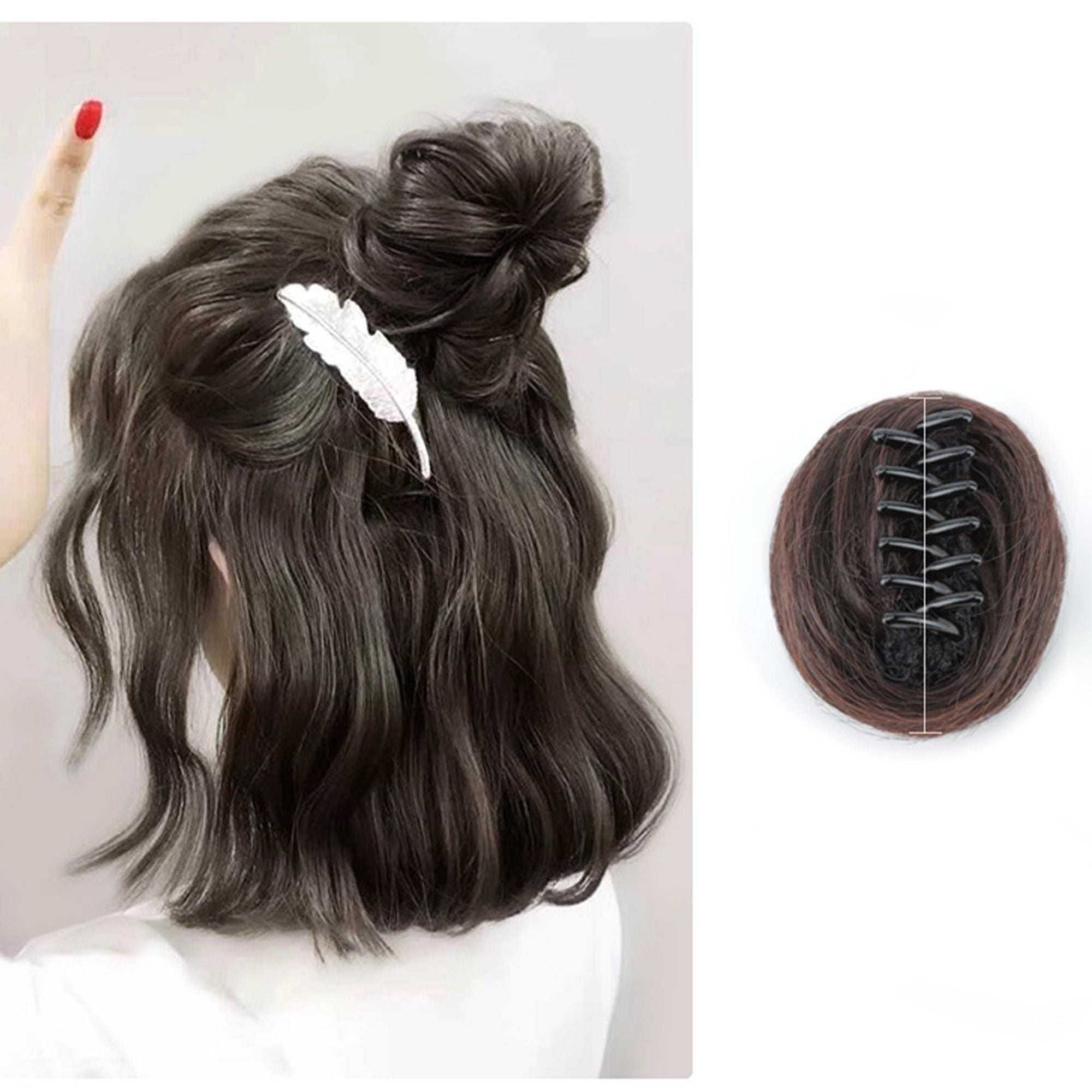 Natural Hair Buns Clip