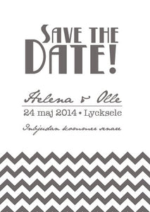 """All I want"" Save the date grå"