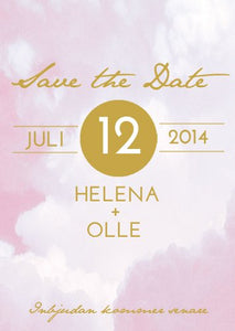 """RIBBON IN THE SKY"" SAVE THE DATE ROSA"