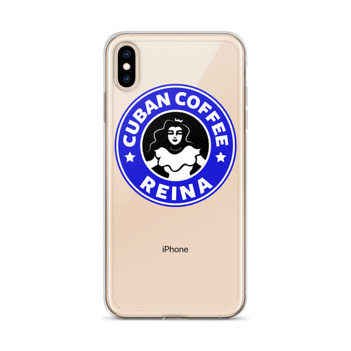 Cuban Coffee Queen Blue iPhone Case