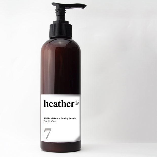 heather® tinted natural tanning formula 7