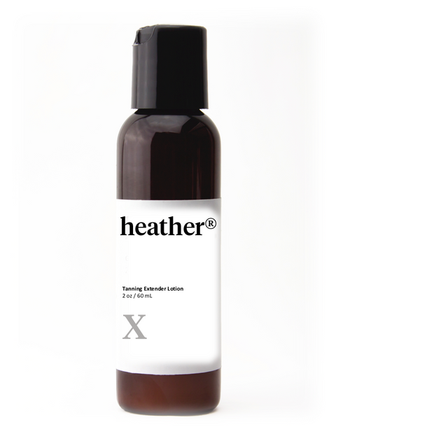 heather® tanning extender lotion