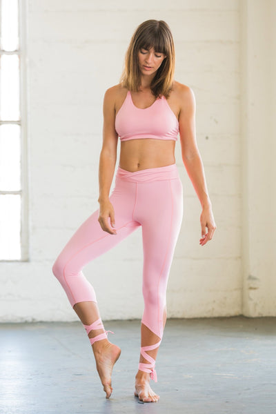 Coral Pink Flexi Dancer Leggings - Flexi Lexi Australia