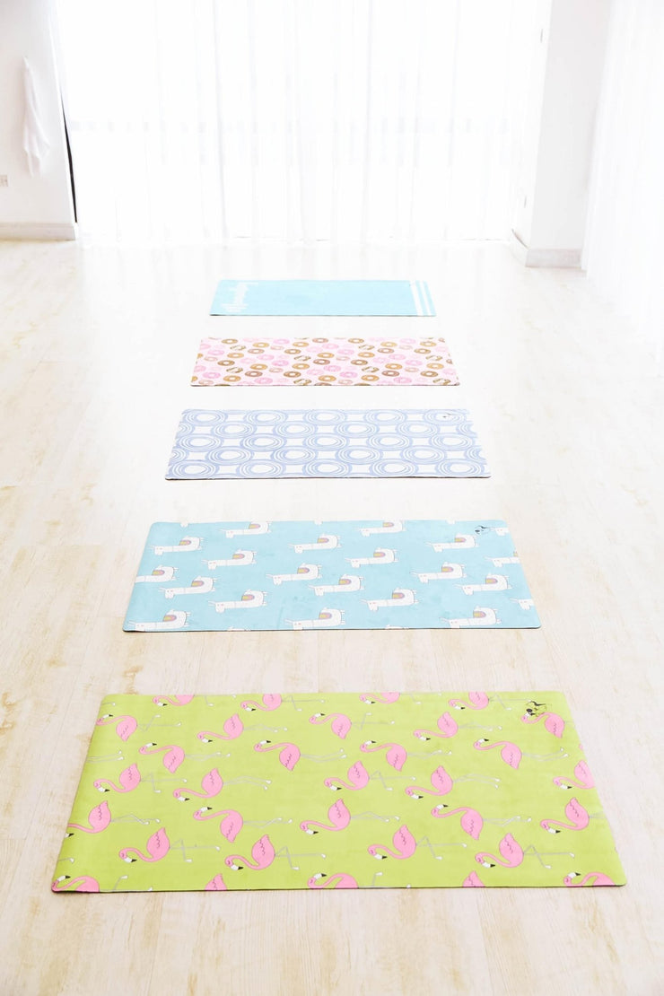 Fab Flamingo Flexi Yoga Mat Adults and Kids - Flexi Lexi Australia