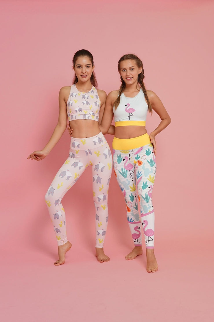 Fit Flamingo Flexi Crop - Flexi Lexi Australia