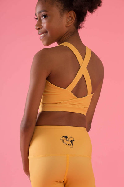 Mini Hello Girlfriend Flexi Crop - Yellow - Flexi Lexi Australia