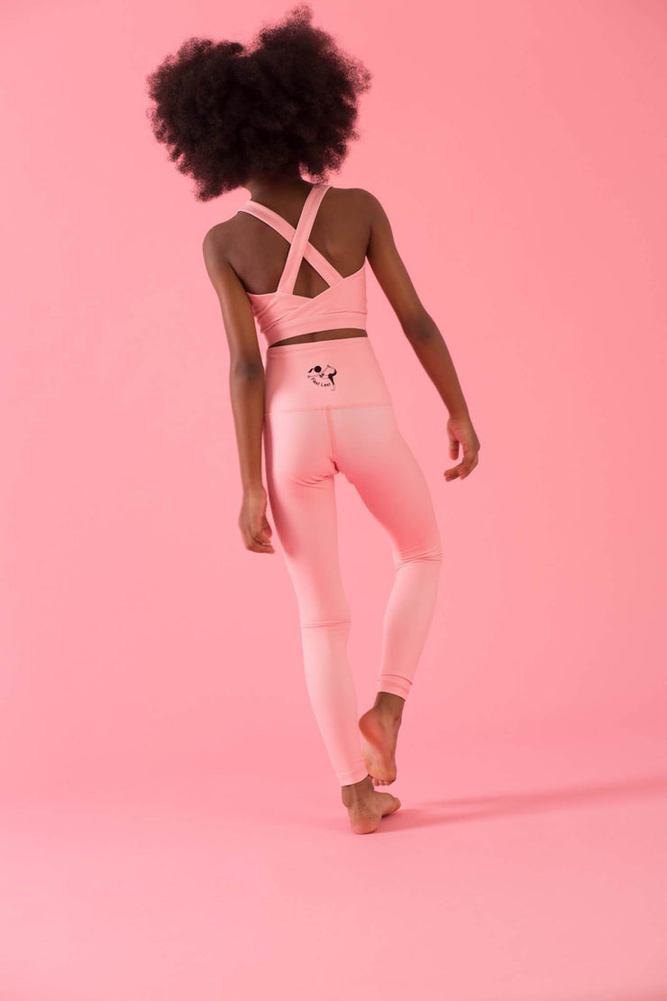 Mini Hello Girlfriend Flexi Pants - Pink - Flexi Lexi Australia