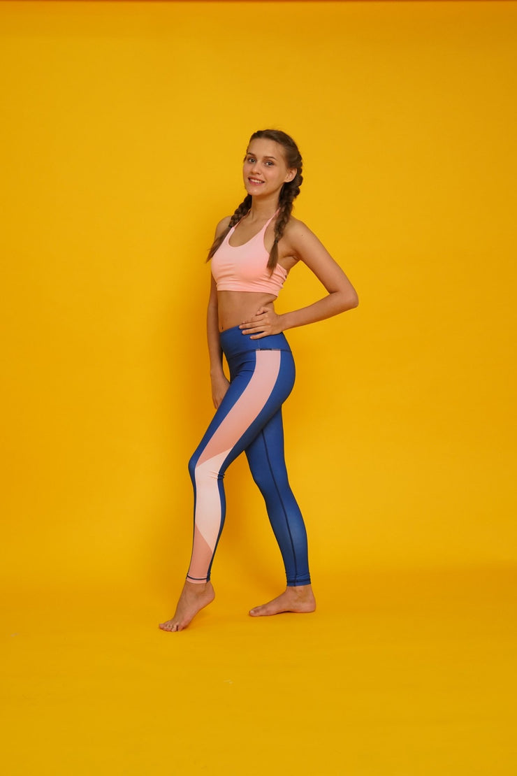Navy Blush Leggings - Flexi Lexi Australia
