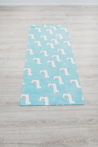 No Dramas Only Llamas Flexi Yoga Mat Adults and Kids - Flexi Lexi Australia