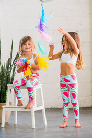 Watermelon Flexi Pants Kids and Minis - Flexi Lexi Australia