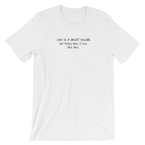LOVE IS HELL T-SHIRT - ColdheartedMerch.shop