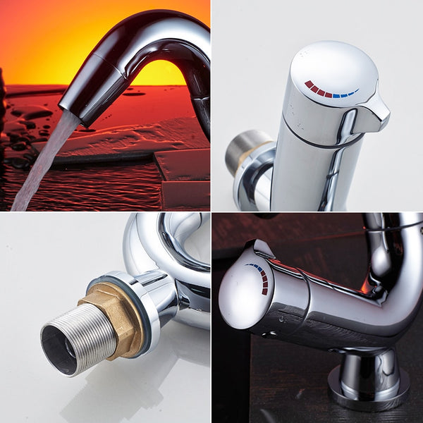 Single Lever Water Tap Bathroom Sink