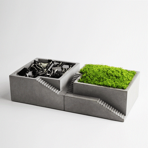 Concrete Square - Planter or Organizer