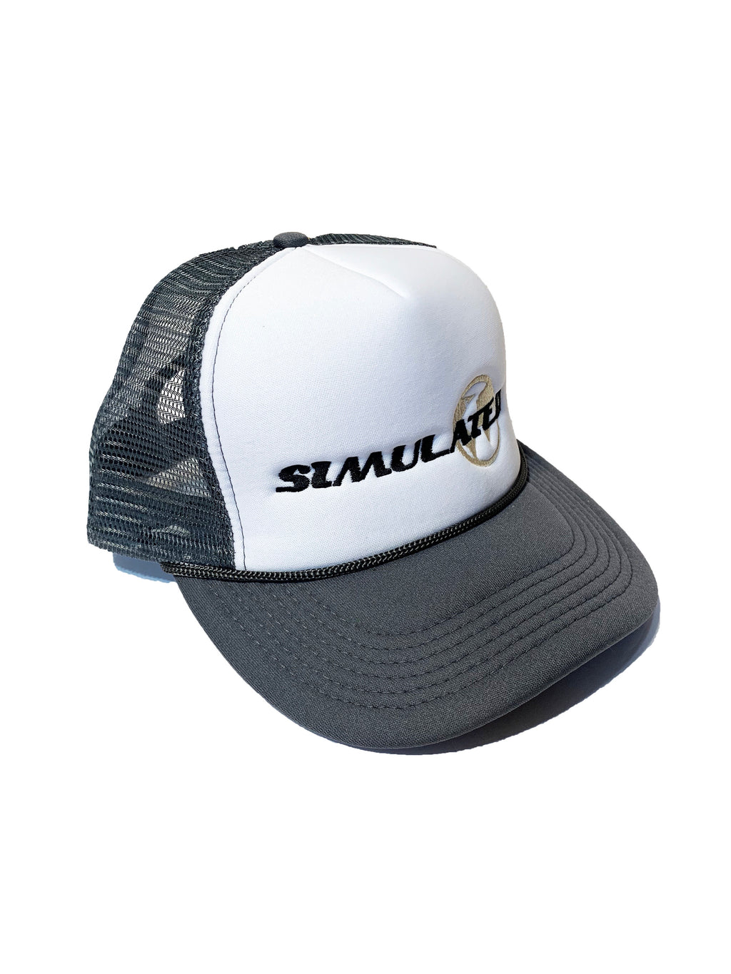 Simulated Trucker Hat Grey