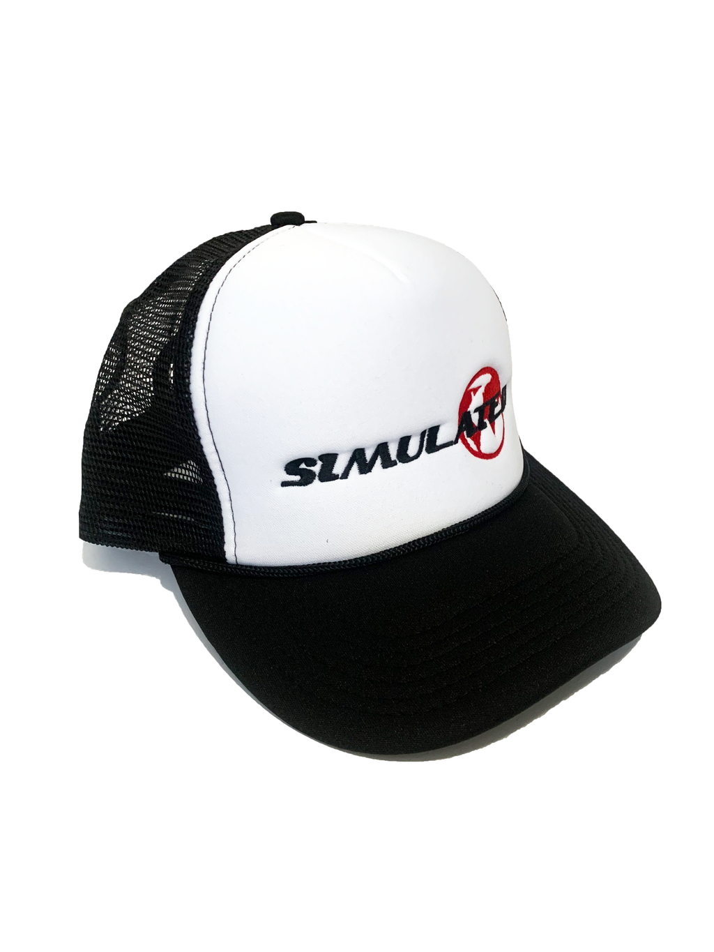 Simulated Trucker Hat Black