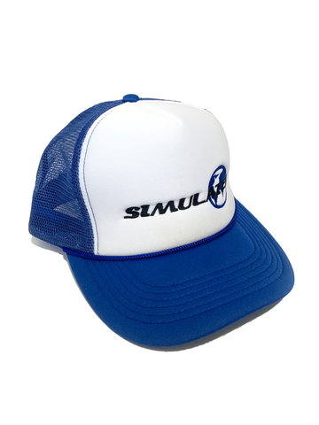 Simulated Trucker Hat Blue
