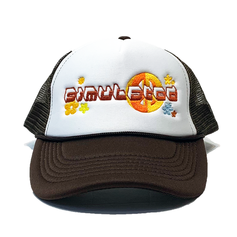 Peace Trucker Hat Brown