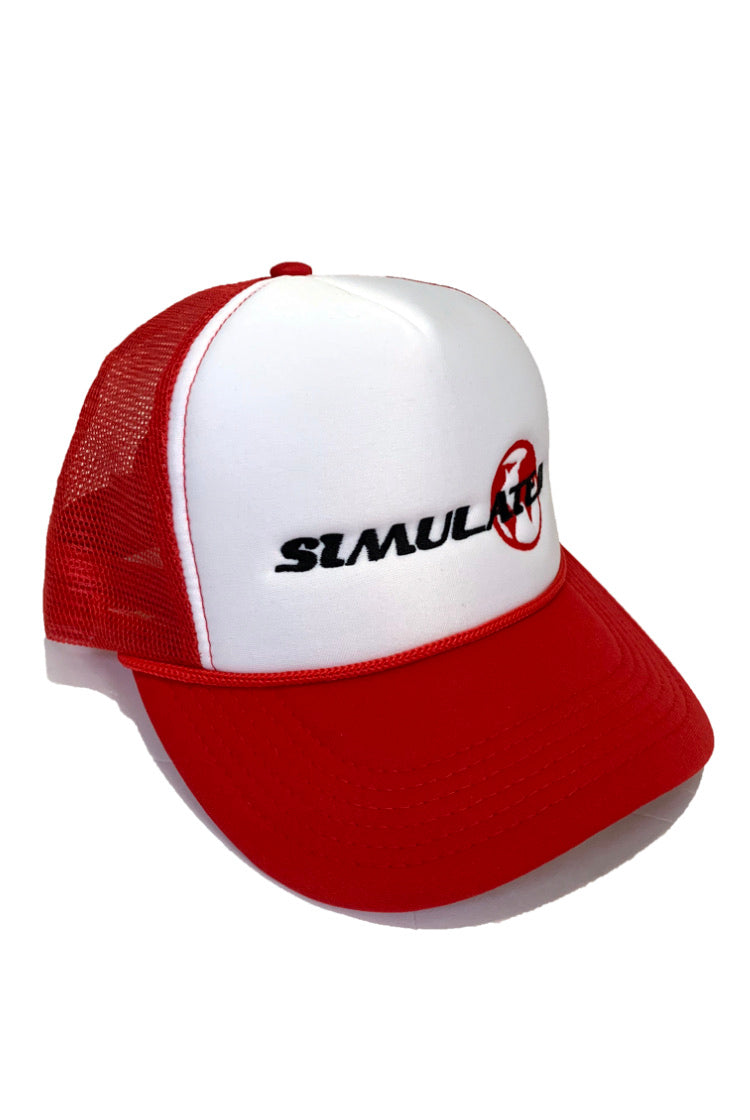 Simulated Trucker Hat Red