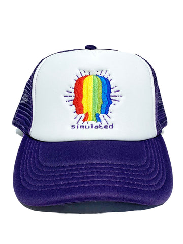 Artificial Intelligence Trucker Hat Purple