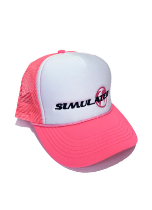 Simulated Trucker Hat Pink