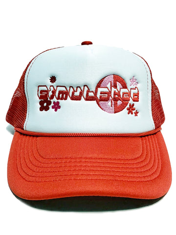 Peace Trucker Hat Red