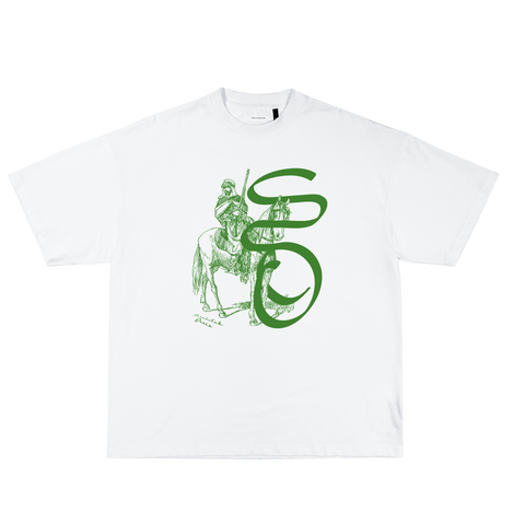 Mirage Tee White Green