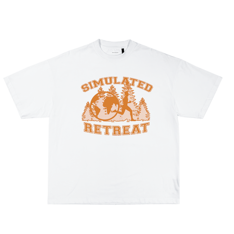 Retreat Tee White Orange
