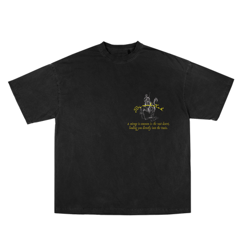 Mirage Tee Vintage Black Embroidered