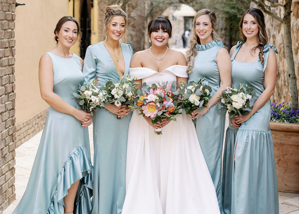 French Blue Bridesmaids