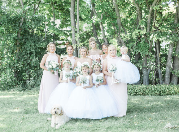 Ashley's Light Pink Bridesmaids