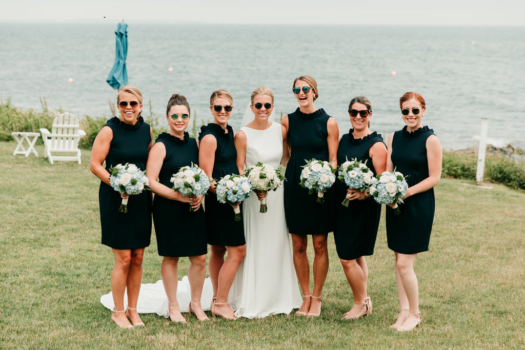 Bridal Party in the Camilyn Beth Go Go Dress in Navy