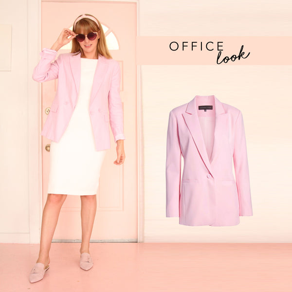 The Camilyn Beth Genevieve Dress in Ivory styled for the office
