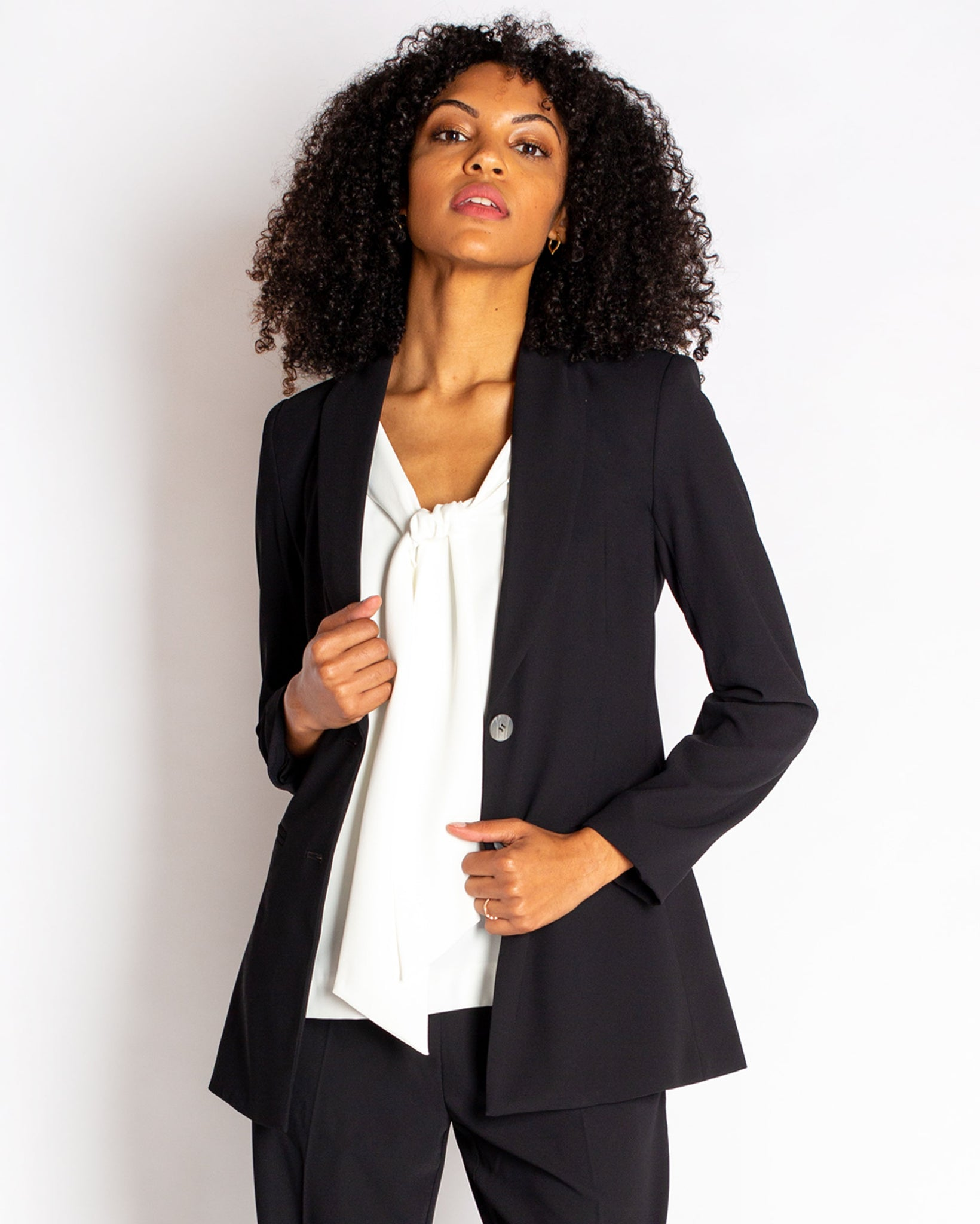 The Parker Blazer in Crepe