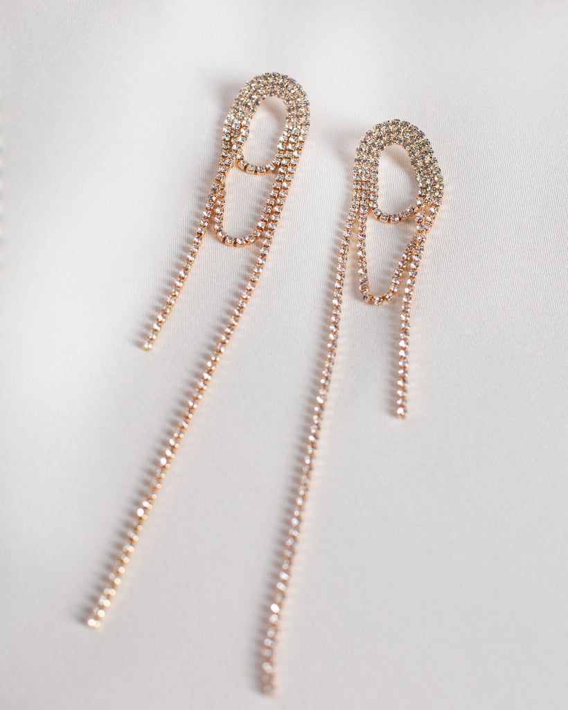 Rhinestone Lasso Earrings