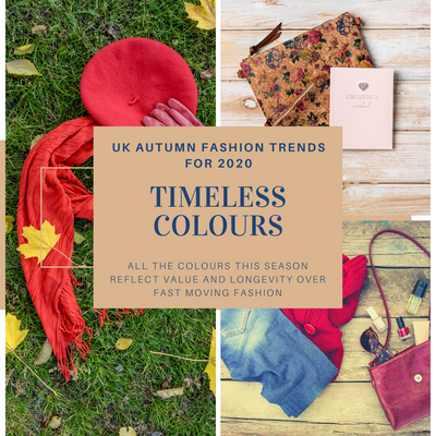 timeless colours is heading for front page of leamina autumn 2020 web site showing blues, burnt reds and pale browns as this autumn UK 2020 colour trends