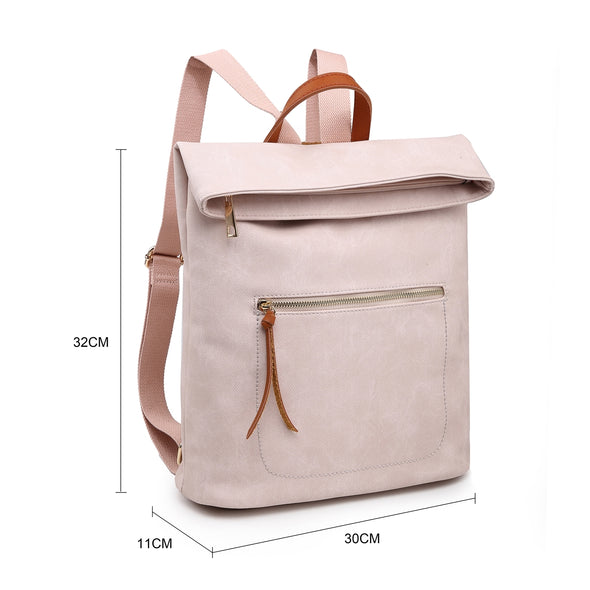 Pastel pink soft feel backpack measurements