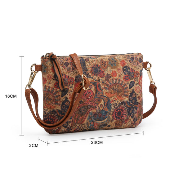 Autumn Roses Cork Handbag and Purse Set