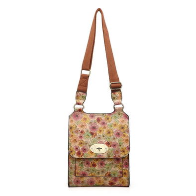 Autumn Pastel Flowers Design Cross Body Bag