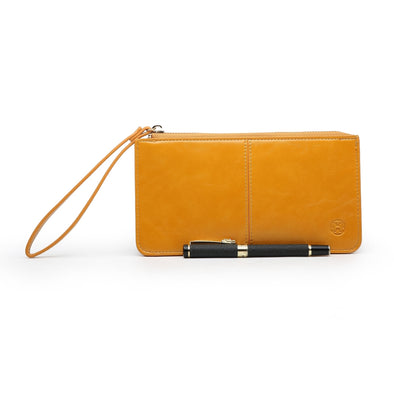 Just For Tonight Mustard Evening Purse With Wrist Strap