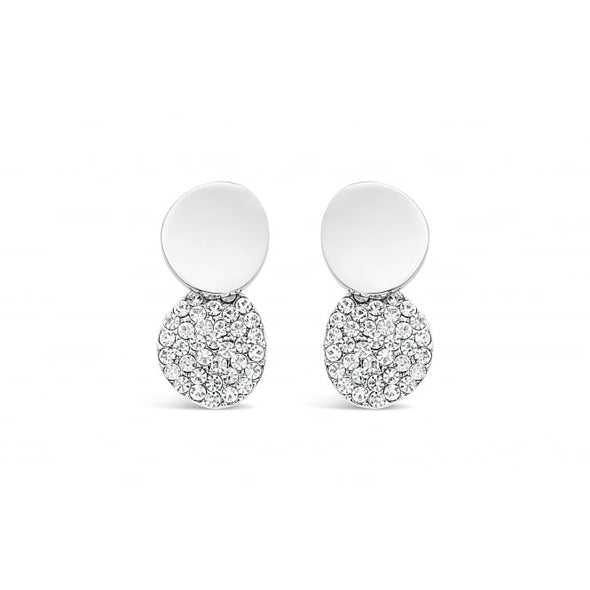 Gift Boxed - Double Circle Sparkle Earrings
