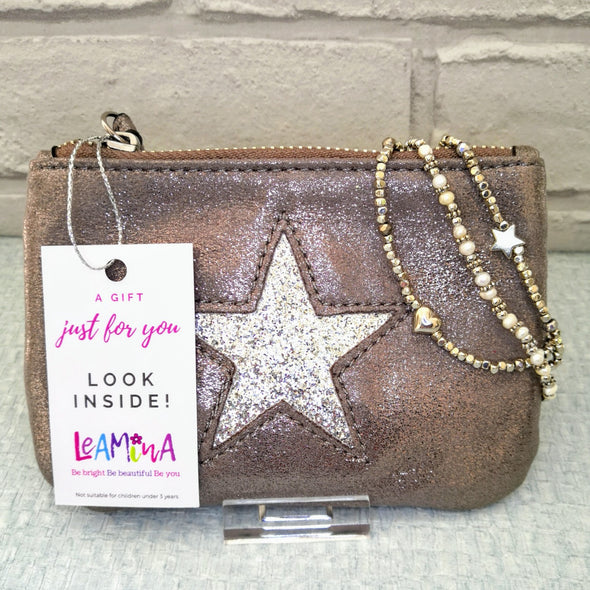Pretty Star Purse and Bracelet Gift Set