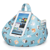 iBeanie digital beanbag showing iPhone device standing or resting on it in cat cartoon fabric