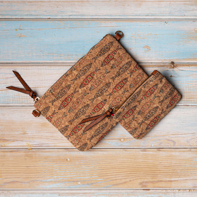 Autumn Cork Fish Handbag and Purse Set