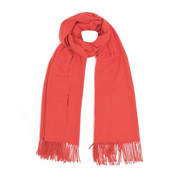 luxury pashmina orange red white background