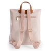 Pastel pink soft feel backpack rear view