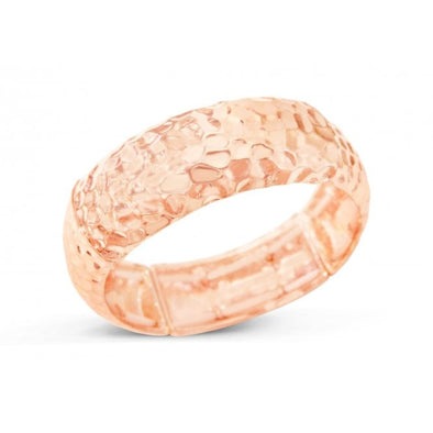 Rose gold plated stretch bangle