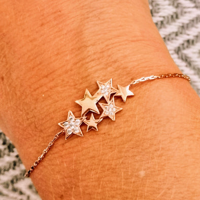 Reach for the Stars Rose Gold Friendship Bracelet