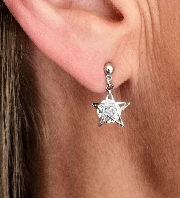 Tiny Star Drop Earrings for Sensitive Ears