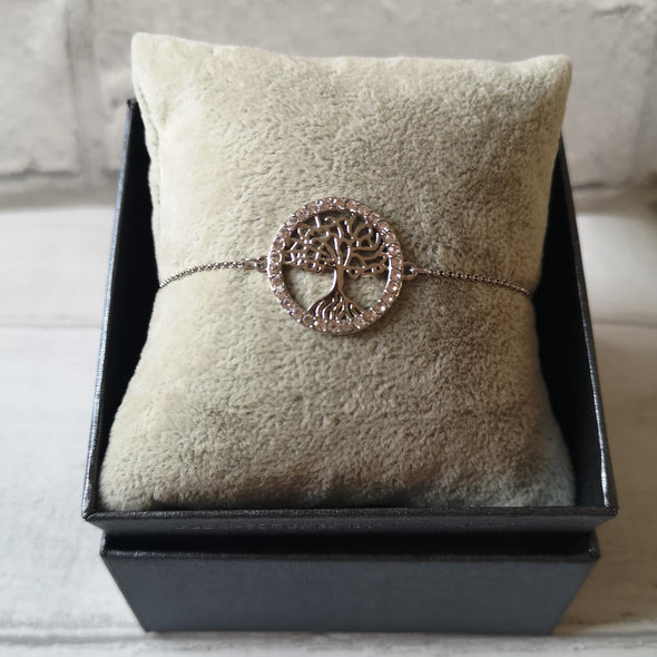 Tree of life crystal bracelet in gift box